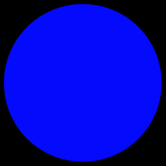 blue cell [dot] black